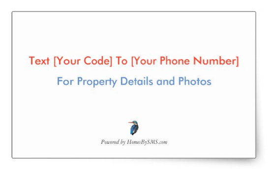 SMS real estate marketing stickers