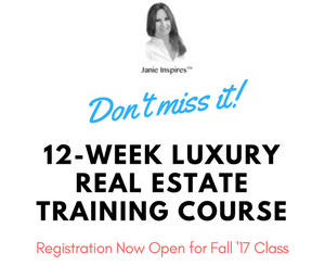 12-week luxury real estate training course