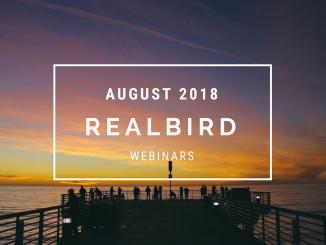 RealBird Webinars, August 2018