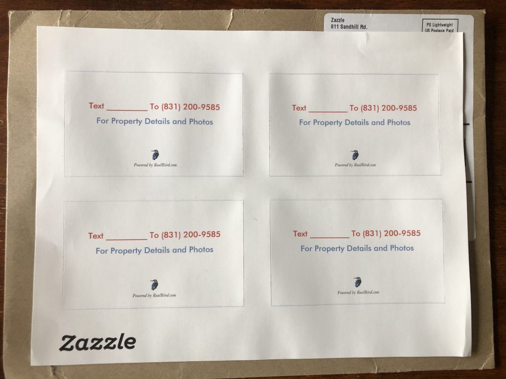Text code marketing sticker example